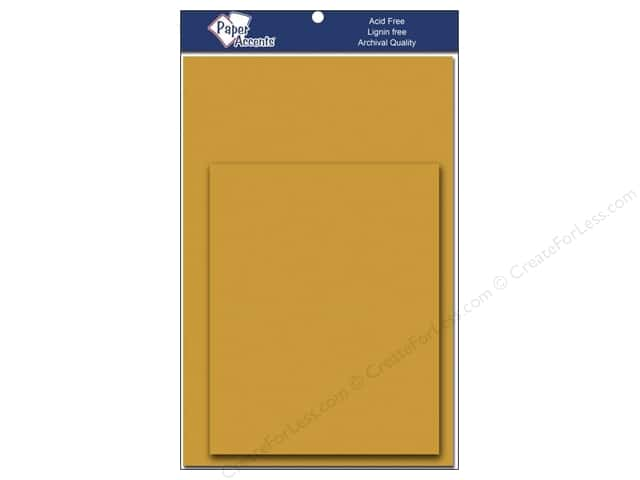 4 1/4 x 5 1/2 in. Blank Card & Envelopes by Paper Accents 8 pc. Dusty Gold