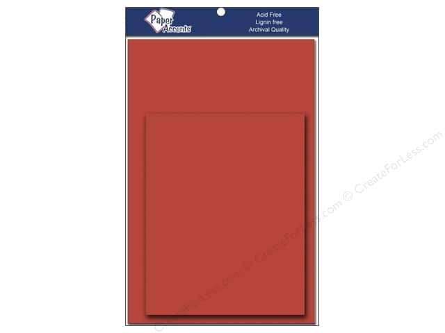 4 1/4 x 5 1/2 in. Blank Card & Envelopes by Paper Accents 8 pc. Dusty Red