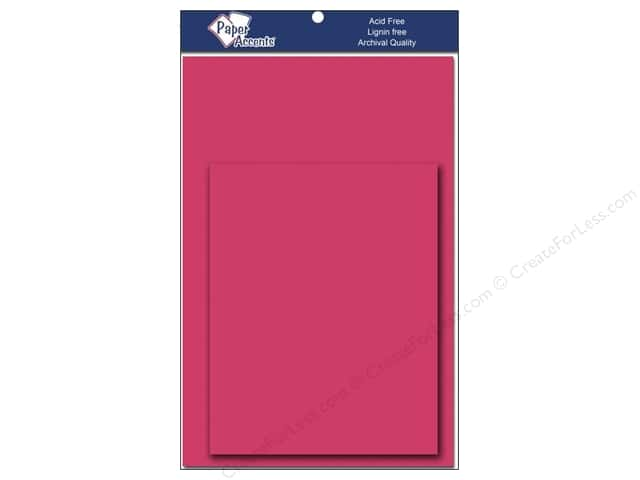4 1/4 x 5 1/2 in. Blank Card & Envelopes by Paper Accents 10 pc. Razzle Berry