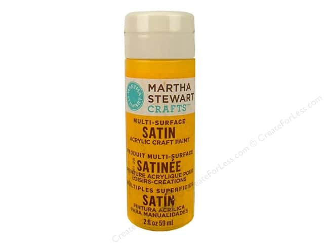 Martha Stewart Craft Paint by Plaid Satin Pollen 2 oz.