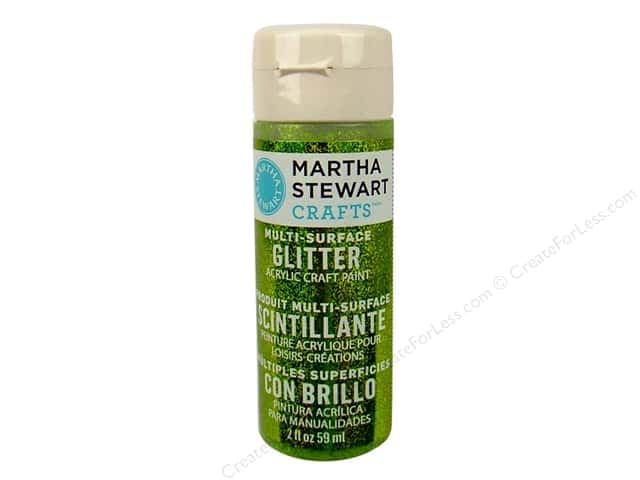 Martha Stewart Craft Paint by Plaid Glitter Golden Beryl 2 oz.