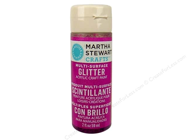 Martha Stewart Craft Paint by Plaid Glitter Rubellite 2 oz.