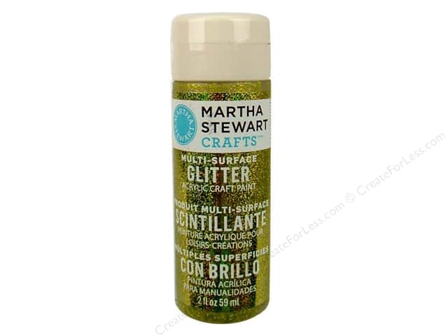 Martha Stewart Craft Paint by Plaid Glitter Yellow Barite 2 oz.