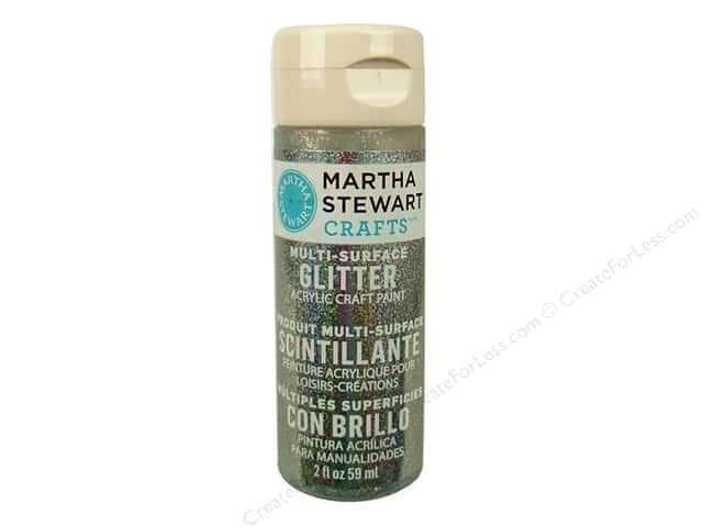 Martha Stewart Craft Paint by Plaid Glitter Sterling 2 oz.