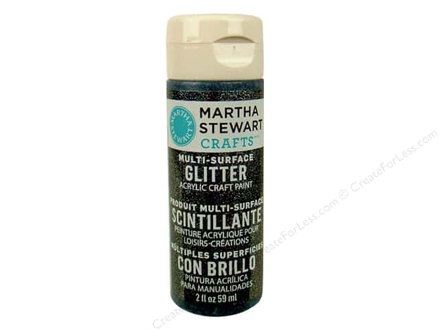 Martha Stewart Craft Paint by Plaid Glitter Onyx 2 oz.