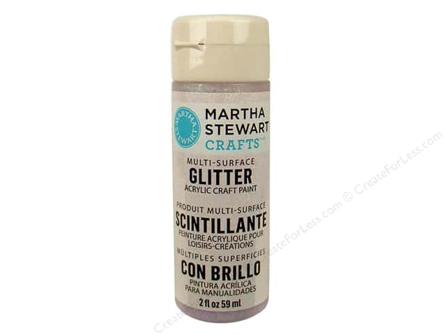 Martha Stewart Craft Paint by Plaid Glitter Sugar Cube 2 oz.