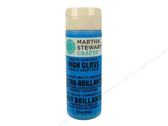 Martha Stewart Craft Paint by Plaid Gloss Blue Calico 2 oz.