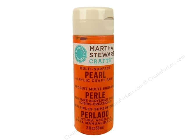 Martha Stewart Craft Paint by Plaid Pearl Tiger Lily 2 oz.