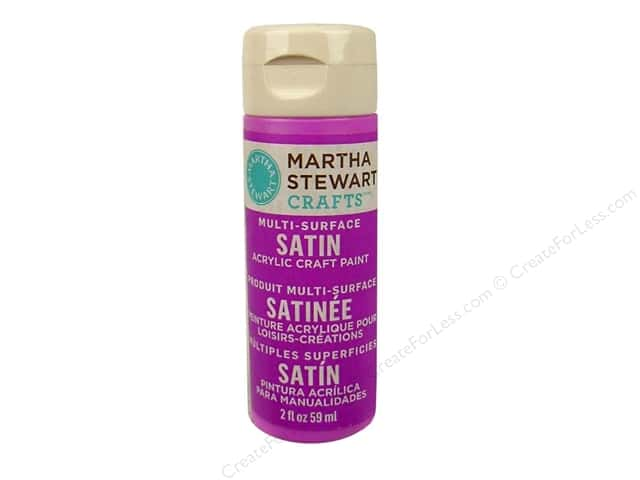 Martha Stewart Craft Paint by Plaid Satin Mardi Gras Beads 2 oz.