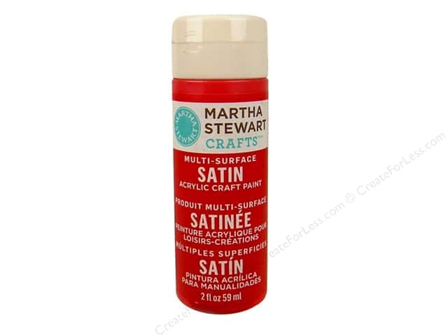 Martha Stewart Craft Paint by Plaid Satin Habanero 2 oz.