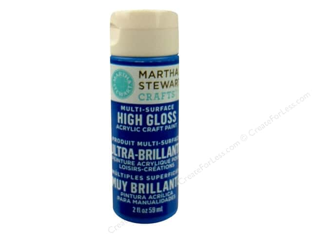 Martha Stewart Craft Paint by Plaid Gloss Indigo 2 oz.