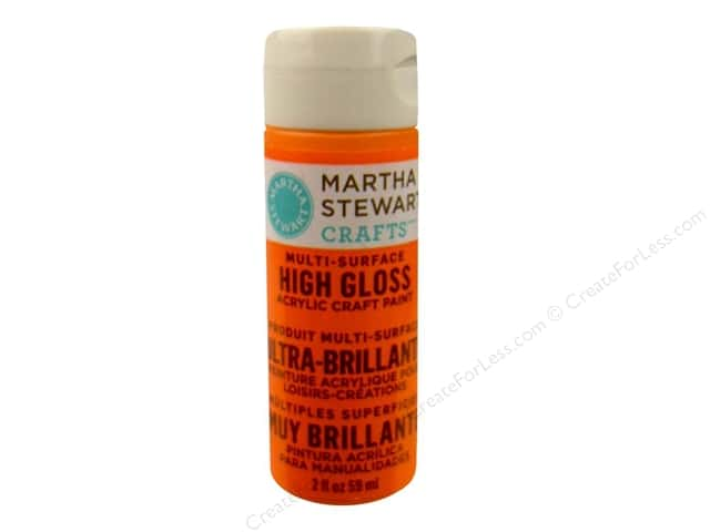 Martha Stewart Craft Paint by Plaid Gloss Marmalade 2 oz.