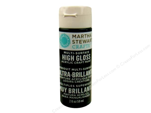 Martha Stewart Craft Paint by Plaid Gloss Beetle Black 2 oz.