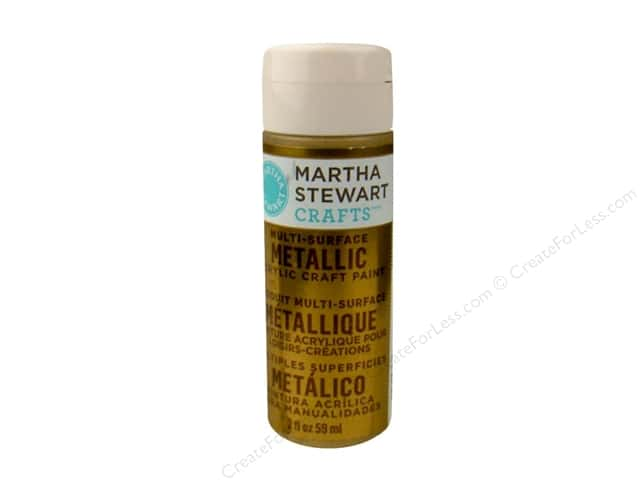 Martha Stewart Craft Paint by Plaid Metallic Gold 2 oz.