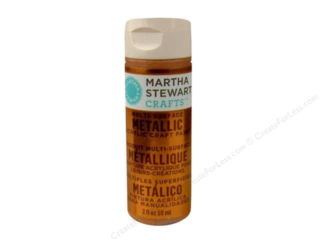 Martha Stewart Craft Paint by Plaid Metallic Copper 2 oz.