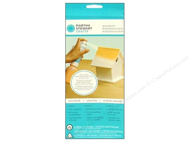 Martha Stewart Craft Paint by Plaid Spray Kit Satin
