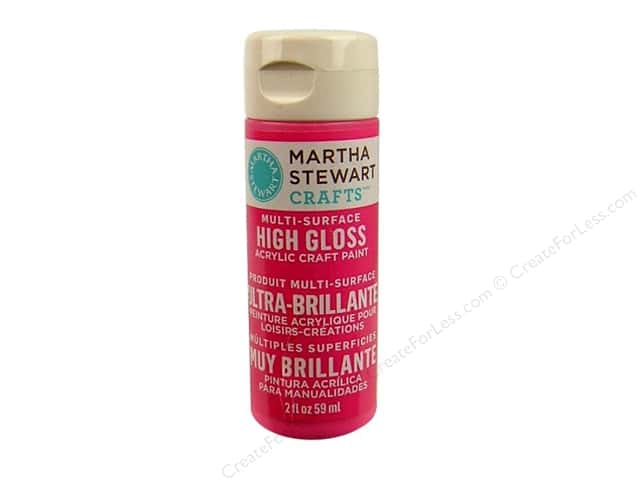 Martha Stewart Craft Paint by Plaid Gloss Amaranth 2 oz.