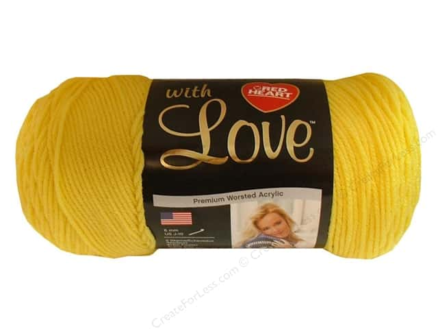 Red Heart With Love Yarn #1201 Daffodil 370 yd.