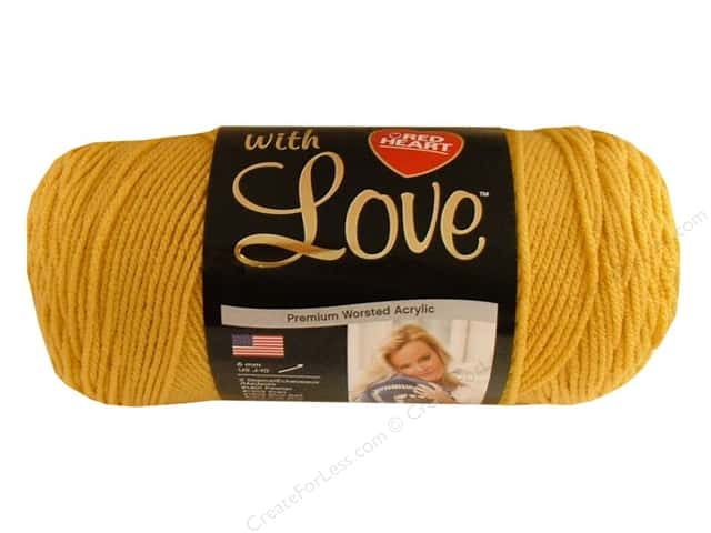Red Heart With Love Yarn #1207 Cornsilk 370 yd.