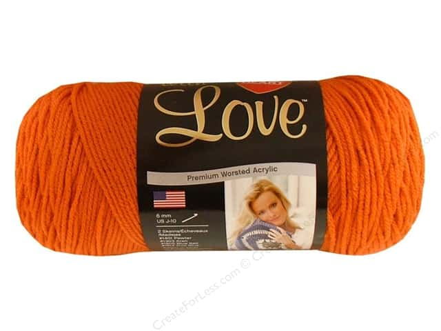 Red Heart With Love Yarn #1252 Mango 370 yd.