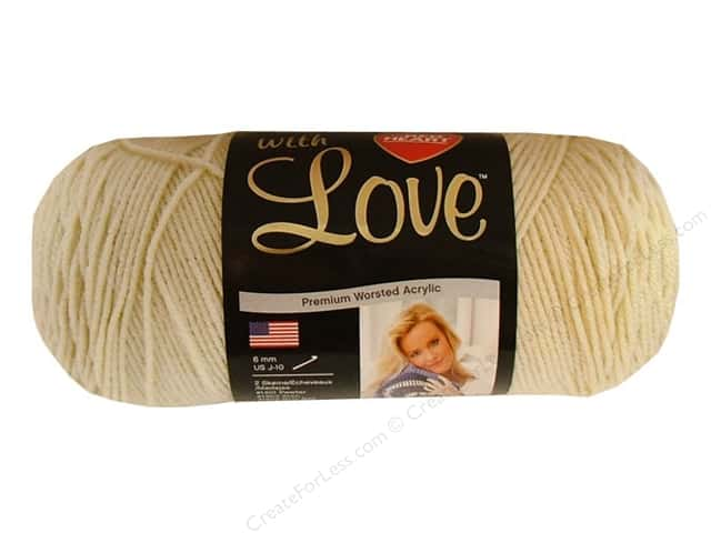Red Heart With Love Yarn 370 yd. #1303 Aran