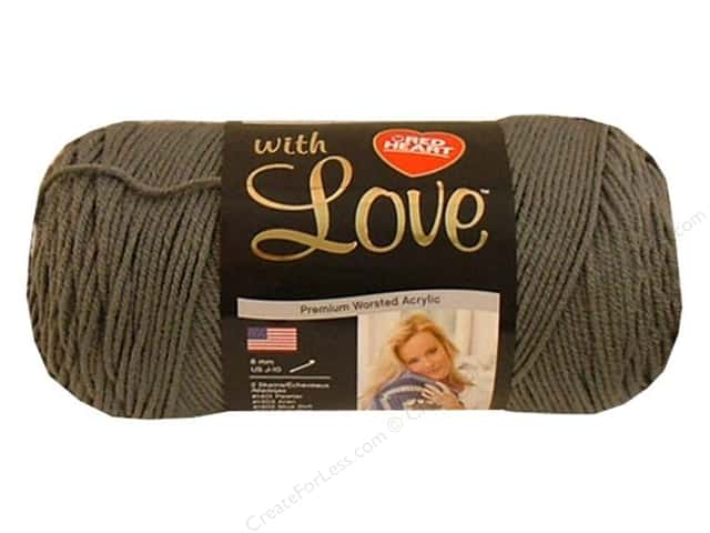 Red Heart With Love Yarn #1401 Pewter 370 yd.