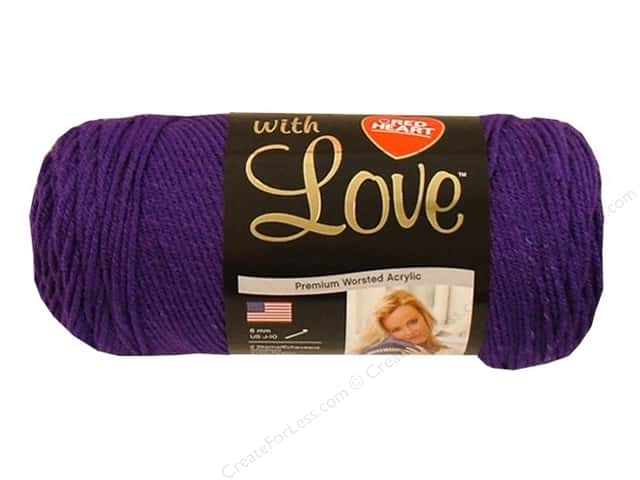 Red Heart With Love Yarn 370 yd. #1530 Violet