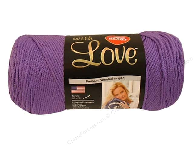 Red Heart With Love Yarn 370 yd. #1538 Lilac