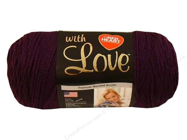Red Heart With Love Yarn #1541 Grape Jam 370 yd.
