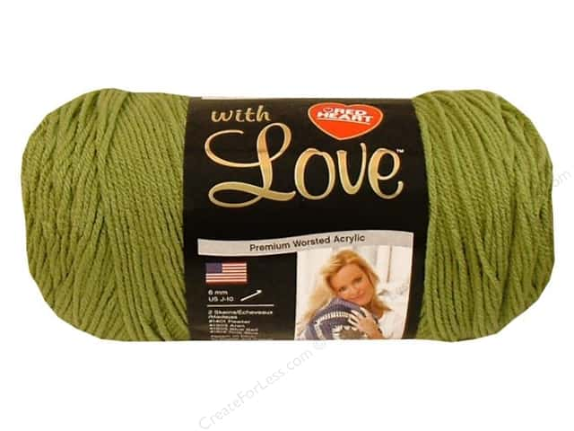 Red Heart With Love Yarn #1601 Lettuce 370 yd.