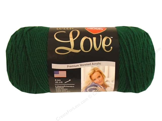 Red Heart With Love Yarn #1621 Evergreen 370 yd.