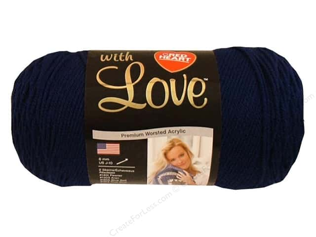 Red Heart With Love Yarn 370 yd. #1801 Navy