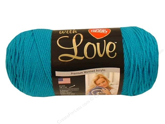 Red Heart With Love Yarn 370 yd. #1803 Blue Hawaii