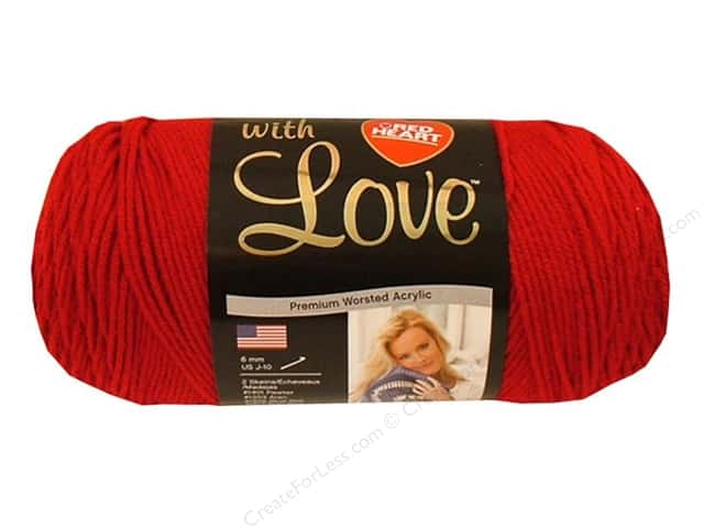 Red Heart With Love Yarn #1909 Holly Berry 370 yd.