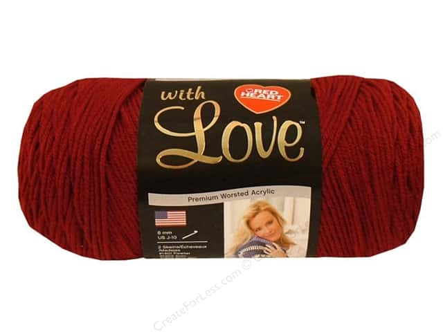 Red Heart With Love Yarn #1914 Berry Red 370 yd.