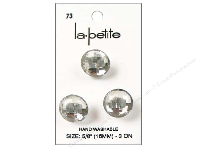 LaPetite Shank Buttons 5/8 in. Crystal #73 3pc.