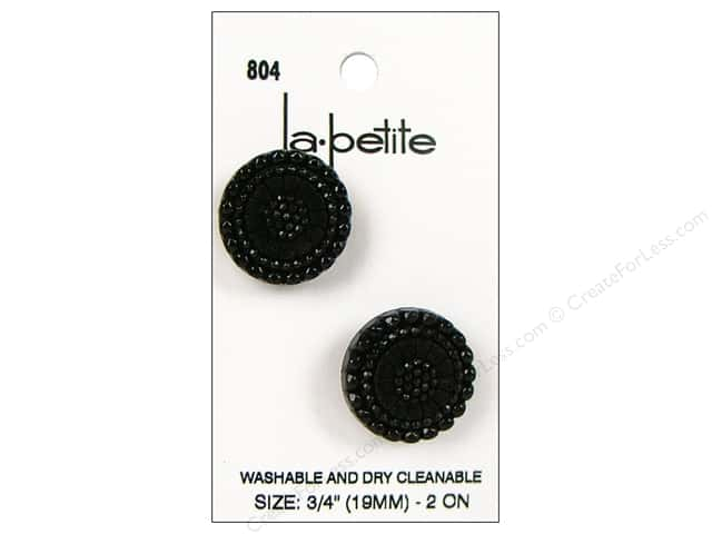 LaPetite Shank Buttons 3/4 in. Black #804 2pc.