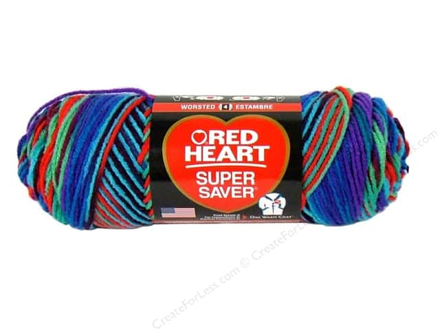 Red Heart Super Saver Yarn 236 yd. #0906 Heartfelt