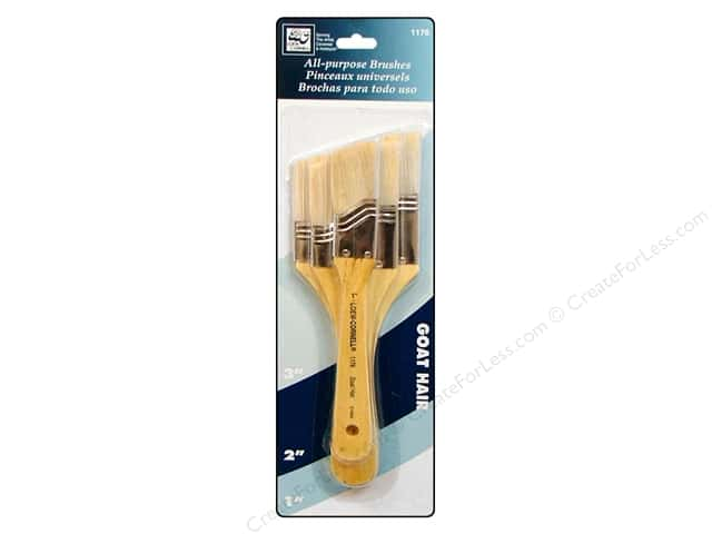 Loew Cornell Brush Set Goat Hair 3pc