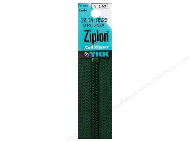 YKK Ziplon Coil Zipper 20 in. Dark Green