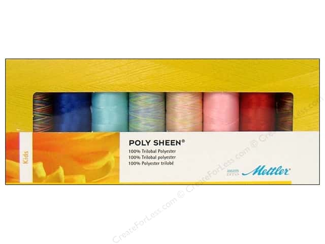 Mettler PolySheen Embroidery Thread Gift Set 8 pc. Kids