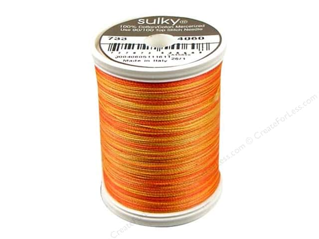 Sulky Blendables Cotton Thread 30 wt. 500 yd. #4060 Tangerine Morning