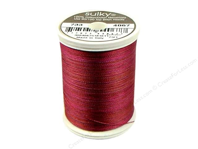 Sulky Blendables Cotton Thread 30 wt. 500 yd. #4067 Merlot Blush