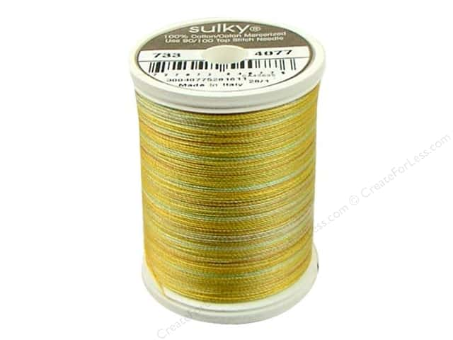 Sulky Blendables Cotton Thread 30 wt. 500 yd. #4077 Seaside Sun