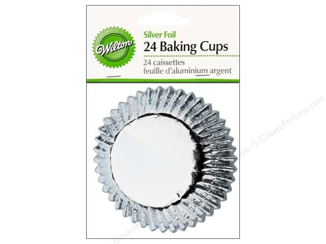 Wilton Standard Baking Cups Silver Foil 24 pc.