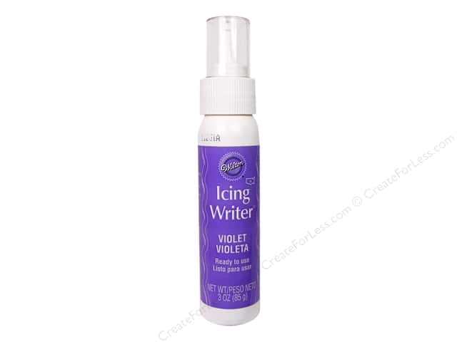 Wilton Edible Decorations Fondant Icing Writer Violet 3oz