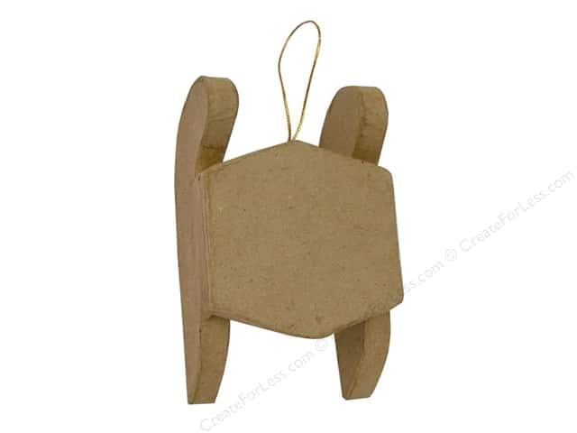 Paper Mache Sled Ornament by Craft Pedlars (3 pieces)
