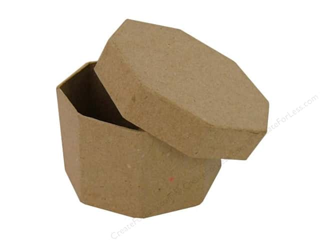Paper Mache Octagon Box Regular by Craft Pedlars (36 pieces)