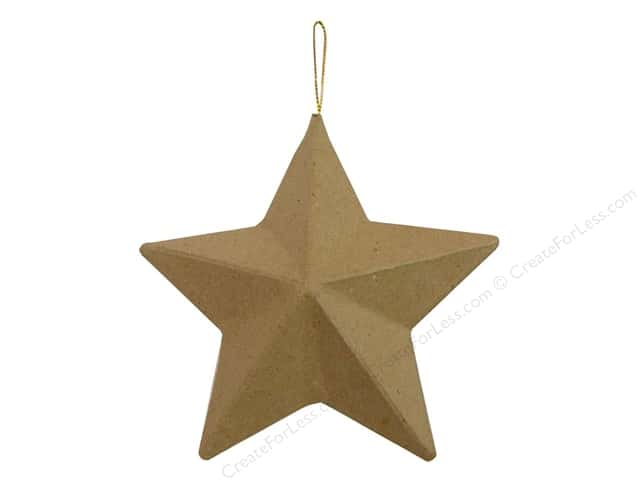 Paper Mache 5 Point Star Ornament by Craft Pedlars 5 in.