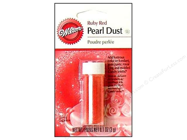Wilton Edible Decorations Pearl Dust .1oz Ruby Red